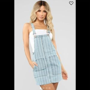 Fashion Nova Denim Top of the Charts Skirtall